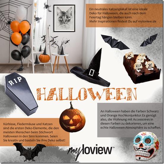 Halloween auf Moodboard